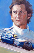 "Load image into Gallery viewer, Art Print - ""Senna. Eyes that Knew No Fear"" - Historic Race"