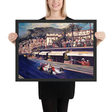 "Load image into Gallery viewer, Art Print - ""Senna Coming out of Turn in Monaco GP"""