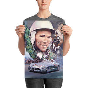 Stirling Moss Mille Miglia Mercedes 300SLR print