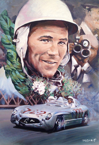 Stirling Moss 300SLR - Signed Print