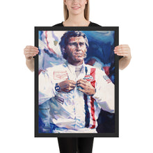 "Load image into Gallery viewer, Art Ptint - ""Steve McQueen"" - Classic cars"