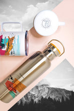 Load image into Gallery viewer, Stainless Steel insulated water bottle made in Arizona USA with mountain design