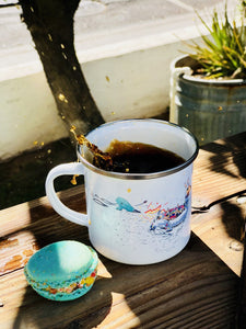 Enamel Coffee Mug - Lama Floatie