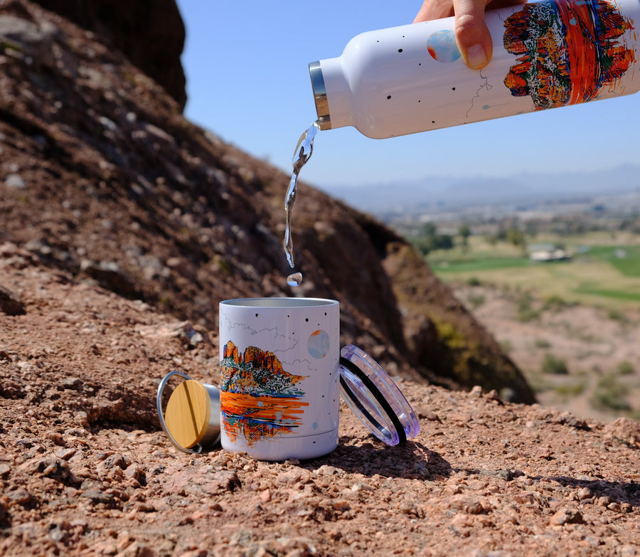 Couloir insulated water bottle with bamboo lid - Sedona Castle Rock