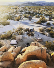 Load image into Gallery viewer, Family campground with the desert scenery at sunrise in the picturesque Joshua Tree National Park