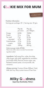 Double Choc Lactation Cookies Packet Mix