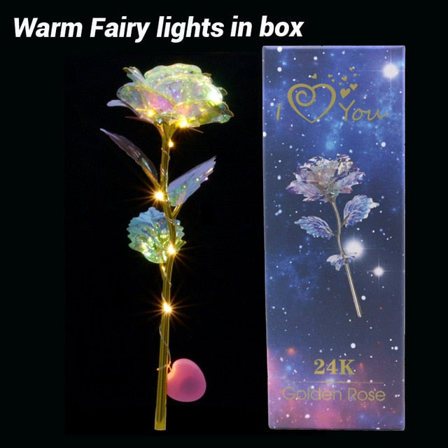Romantic Colorful LED Rose Flowers