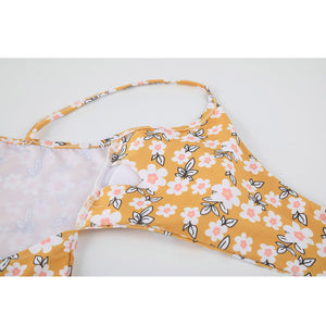 Jasmine Floral Bow-knot Bikini Bathing Suit - Lynne & Trends