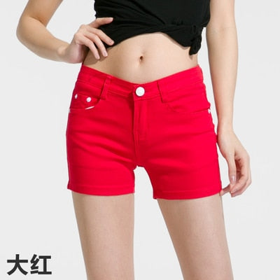 Kimmy Slim Fit Elastic Denim Shorts - Lynne & Trends