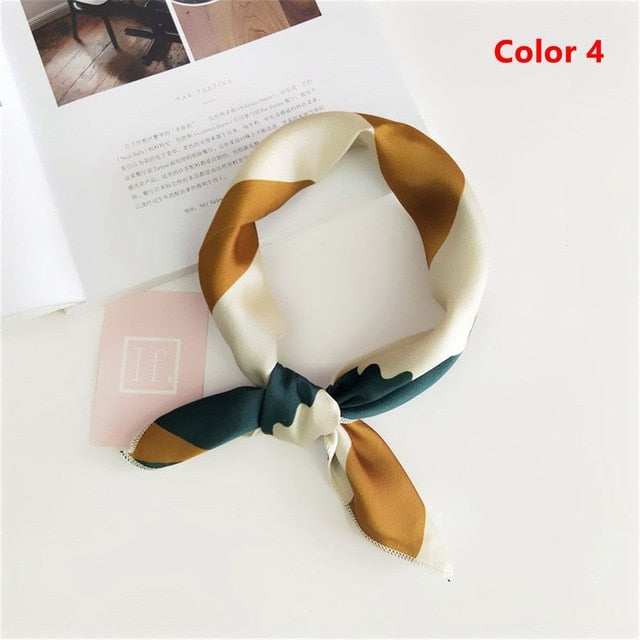 Satin Skinny Retro Hair Tie Band Scarf - Lynne & Trends
