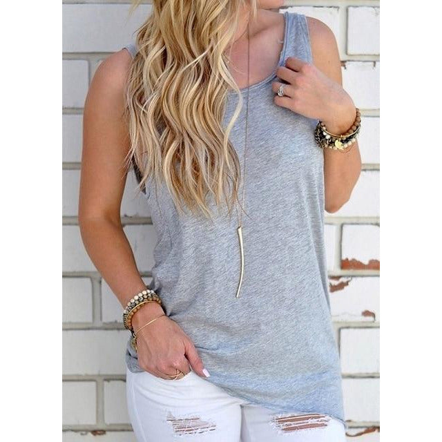 Backless Knotted Tank Top - Lynne & Trends