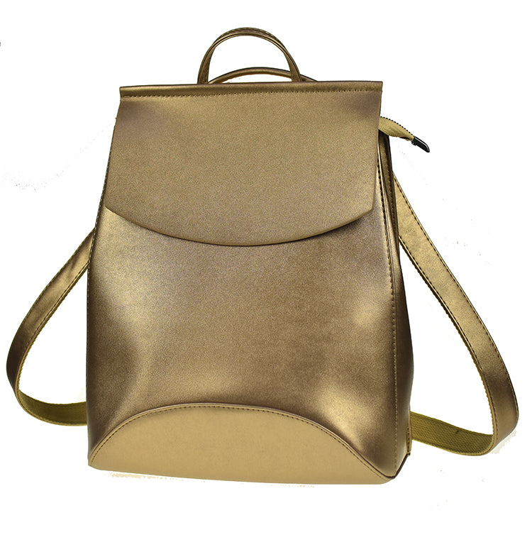 Zocilor Golden Leather Backpack - Lynne & Trends