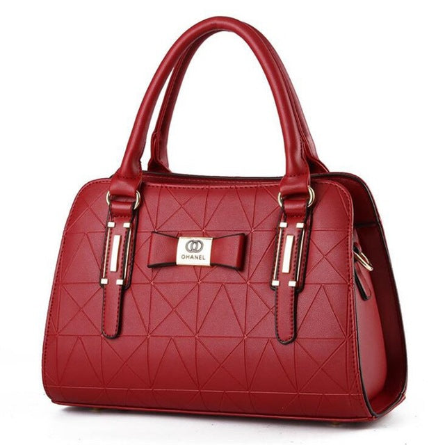Chanel Red Luxury Fashion Leather Handbag - Lynne & Trends