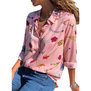 Blusas Printed Long Sleeve Blouse - Lynne & Trends
