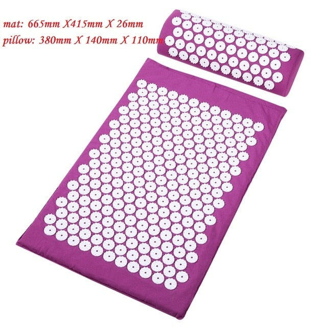 Yoga Massager Cushion Mat with Pillow - Lynne & Trends