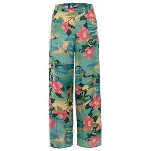 Nightingale Blue Wide Legs Pants - Lynne & Trends