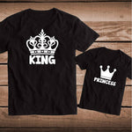 King and Queen Black Couple Shirts - Lynne & Trends