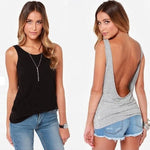 Arianna Backless Tank Top - Lynne & Trends