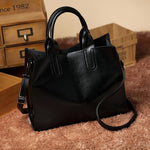 Bonita Black Casual Leather Shoulder Bag - Lynne & Trends