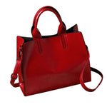 Bonita Red Casual Leather Shoulder Bag - Lynne & Trends