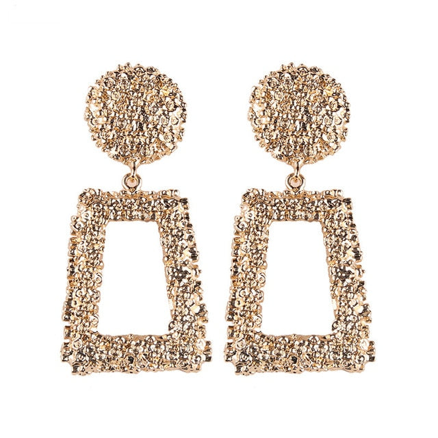 Gia Geometric Vintage Gold Earrings - Lynne & Trends