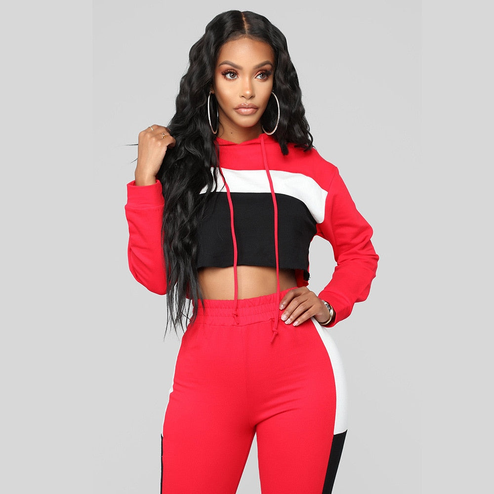 Jodi Red Hoodie Joggers Tracksuit - Lynne & Trends