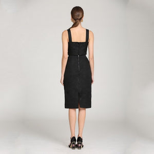 Jewel Black Handmade Beaded Sleeveless Set - Lynne & Trends