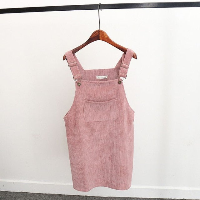 Jayco Suspender Sleeveless Corduroy Skirt - Lynne & Trends