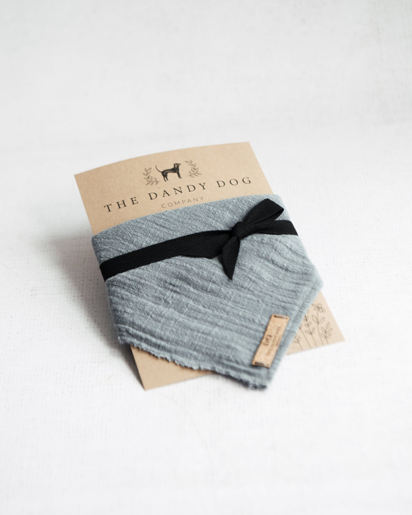 Mid Grey Linen Neckerchief