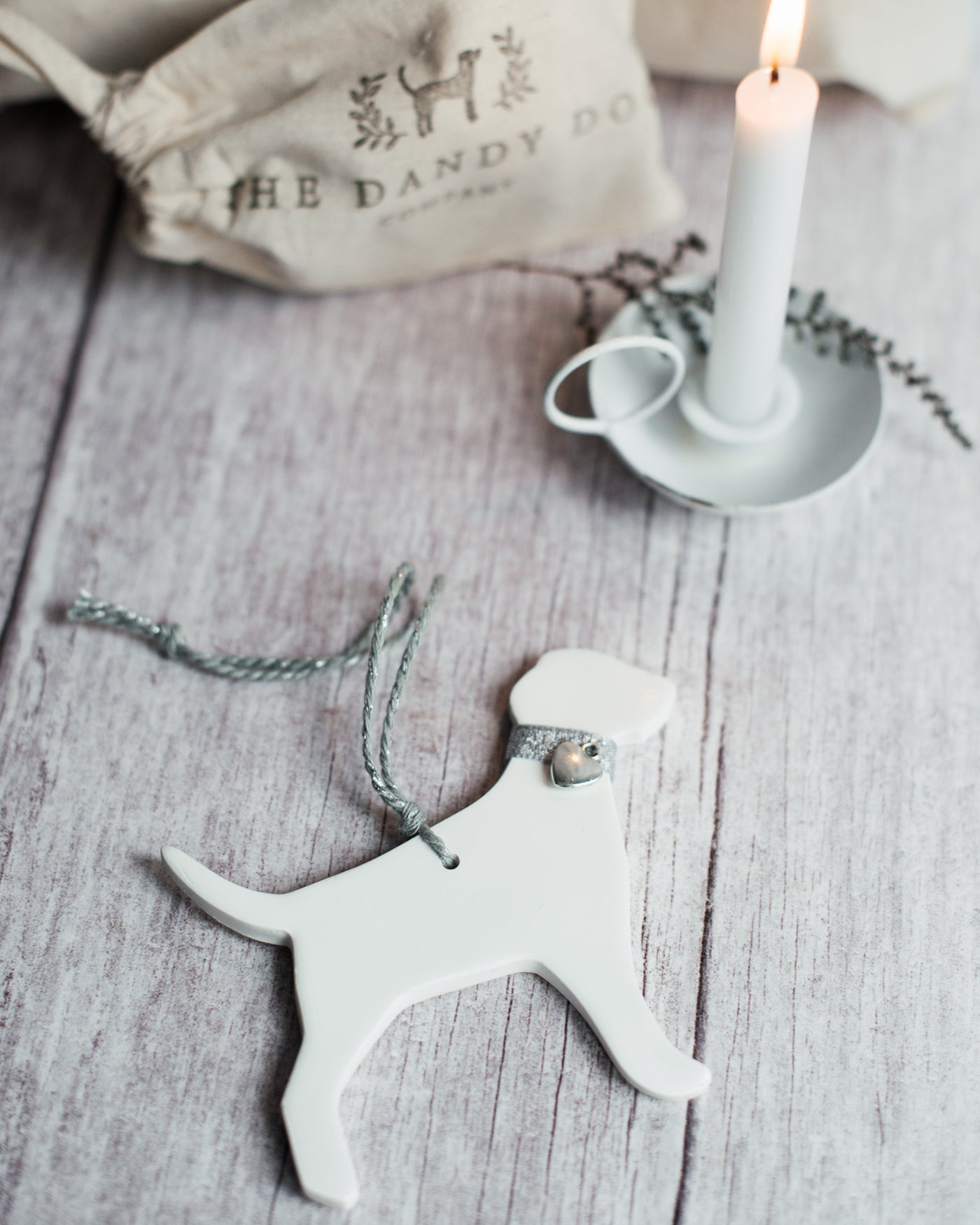 Labrador Ceramic Hanging Christmas Tree Decoration