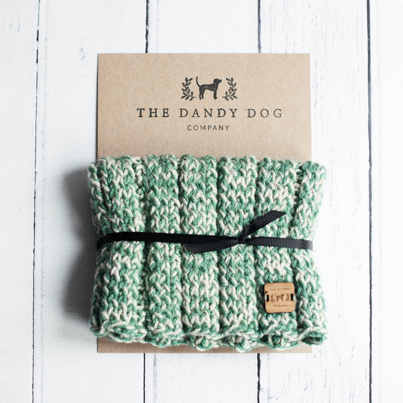 Vintage Green Woollen Snood