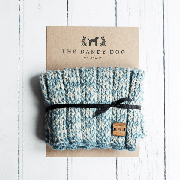 Retro Blue Woollen Snood
