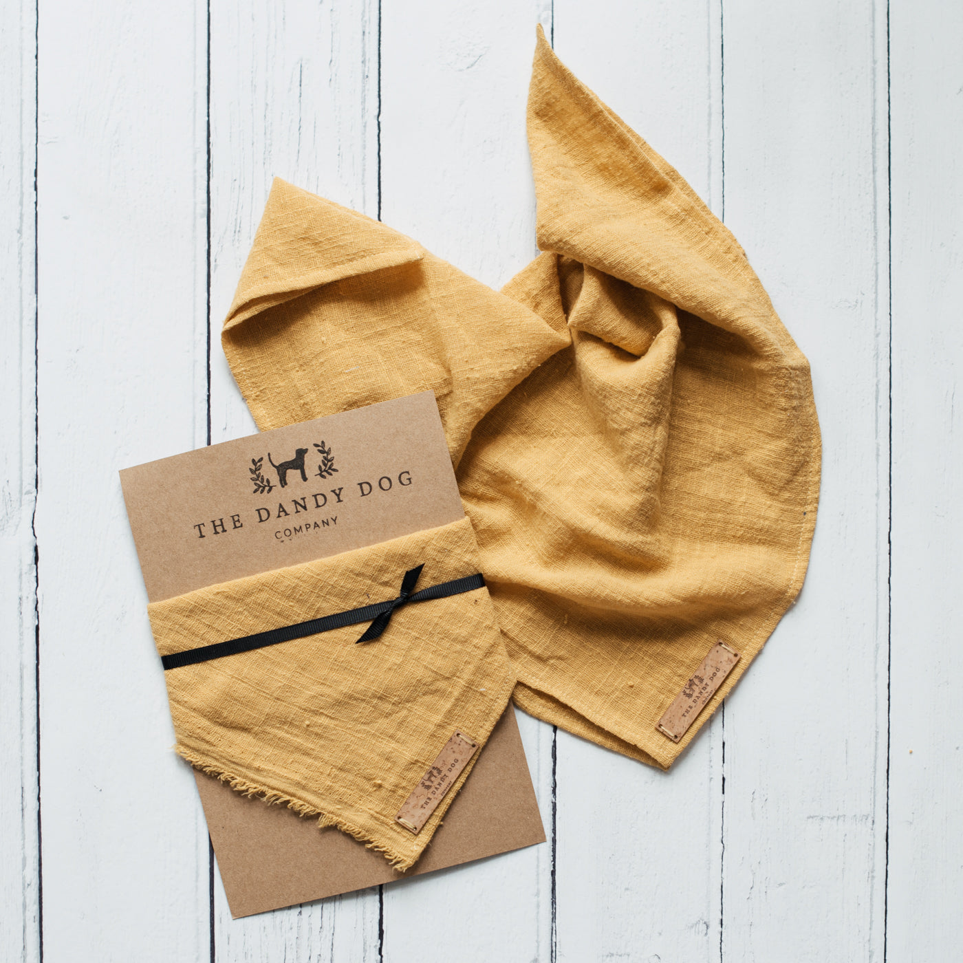 Yellow Ochre Linen Neckerchief