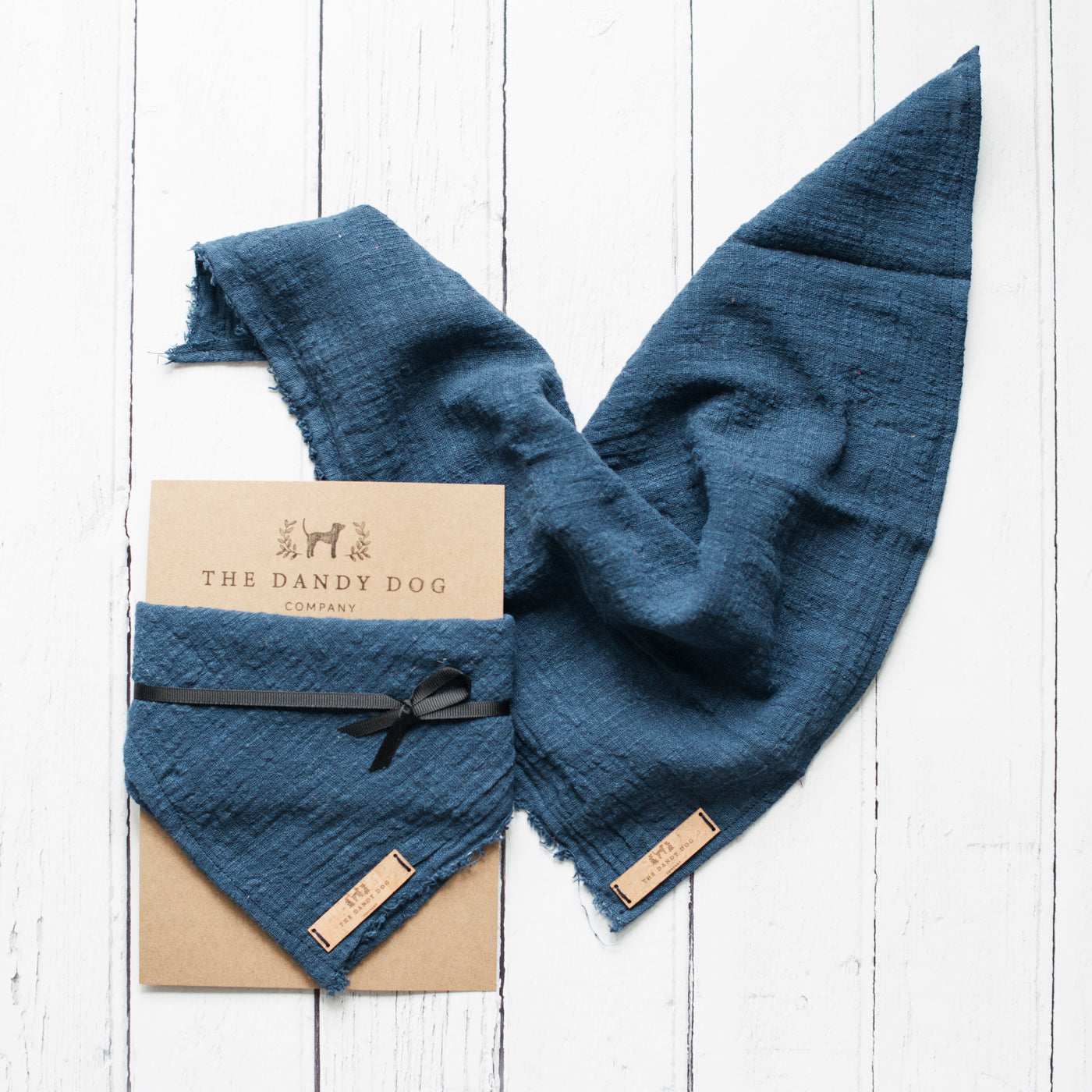 Blue Linen Neckerchief