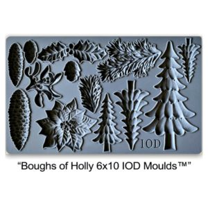 Boughs of Holly Mould 6 x 10
