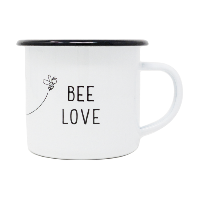 12 oz. Enamel Bee Love Mug