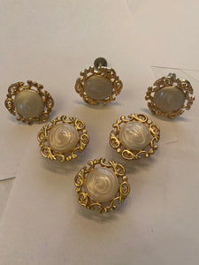 Rose gold white pearl drawer pulls