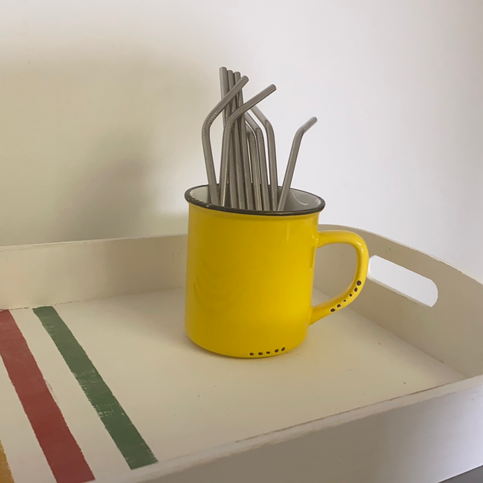 Single stainless steel straws