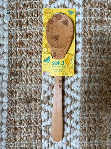 Bee wood mixing spoon