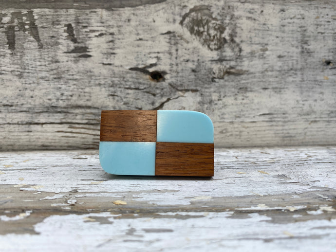 Wooden geometric knobs