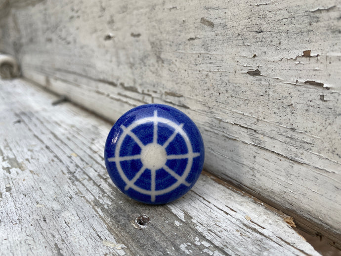 Boat wheel drawer knob