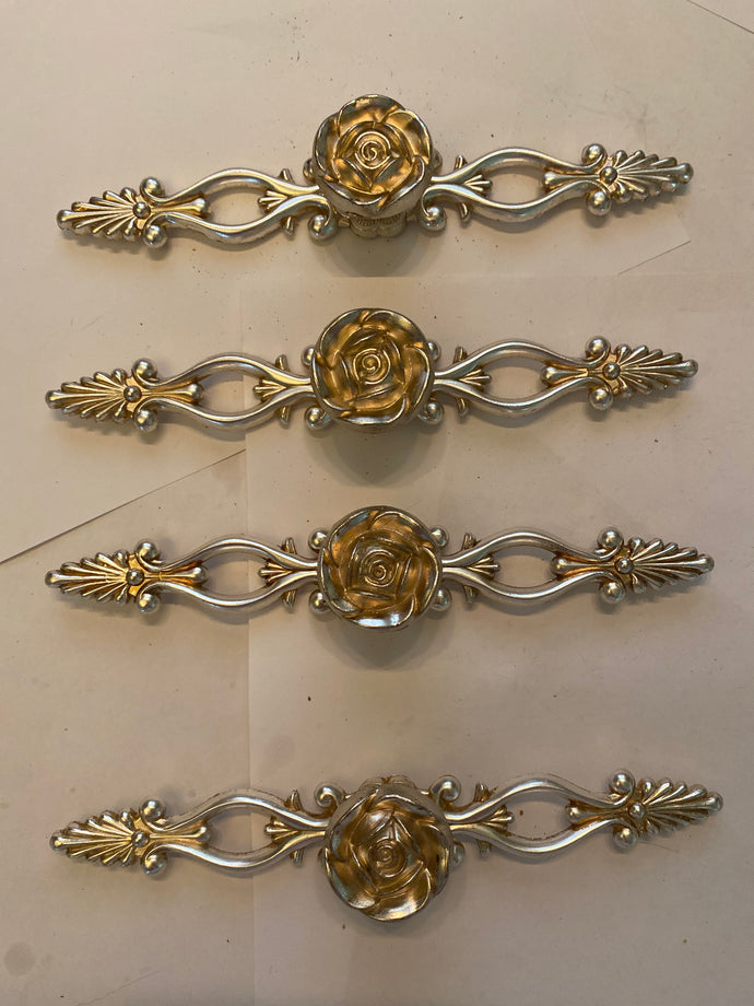 Rose drawer pulls with back plate