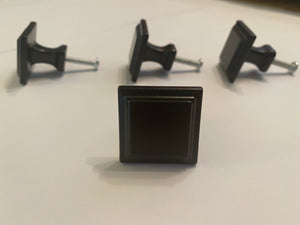 Black square knobs