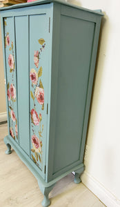 French country inspired solid wood cabinet bookcase linen chest