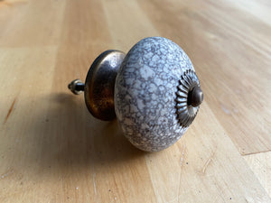 Crackle stone drawer knob