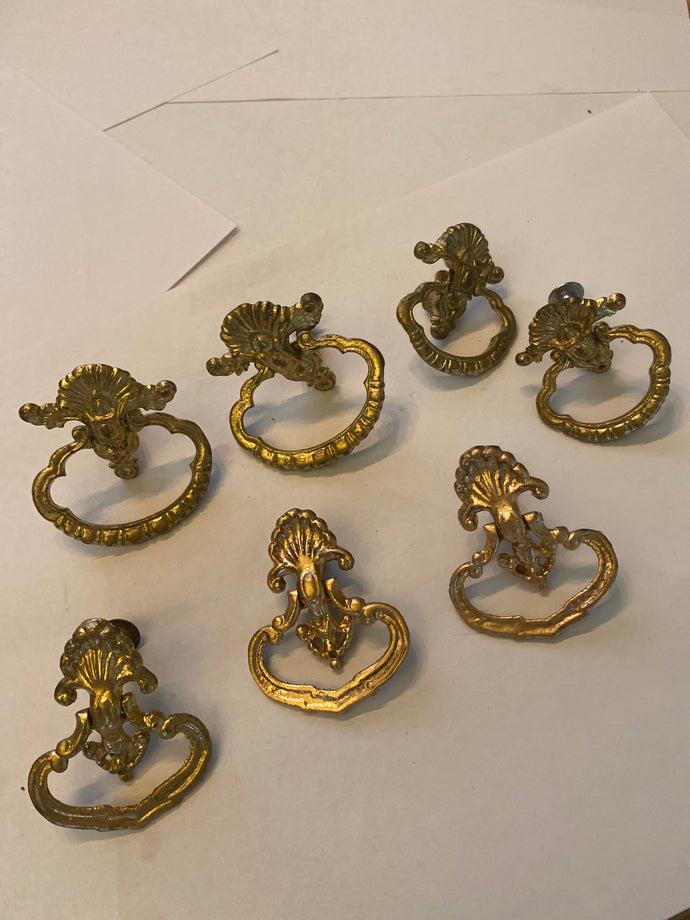 Vintage bronze drawer pulls