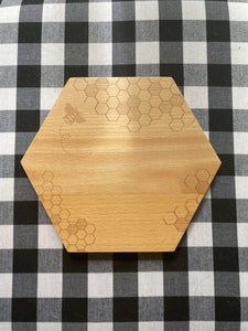 Bee wood cheese board