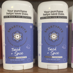 Tweed and spice natural deodorant