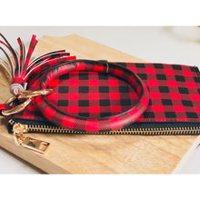 Load image into Gallery viewer, Buffalo Plaid Tassel Bracelet Wristlet