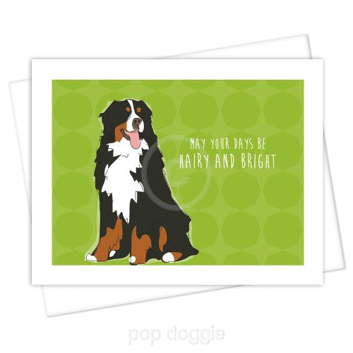 Bernese Mtn Dog Christmas Card May Your Days Be Hairy And Bright